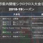 2018-19年シクロクロス長野県内大会の日程が発表!