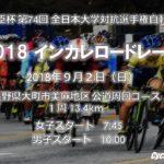 〔告知〕第 74 回 全日本大学対抗選手権自転車競技大会 インカレロード 9/2 大町市美麻で開催